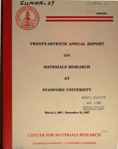 Twenty-seventh Annual Report on Materials Research at Stanford University: March 1, 1987 - December 31, 1987