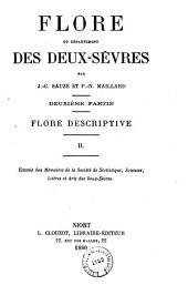 Flore du département des Deux-Sèvres: Partie2,Volume1