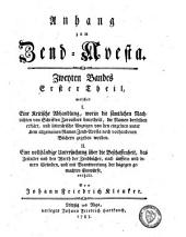 Anhang zum Zend-Avesta: Band 3