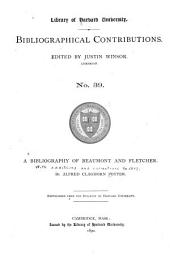 A Bibliography of Beaumont and Fletcher: Issue 39