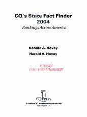 CQ s State Fact Finder 2004 PDF