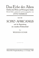 Scipio Africanus und die Begr  ndung der r  mischen Weltherrschaft PDF