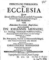 Exercitatio Theologica De Ecclesia