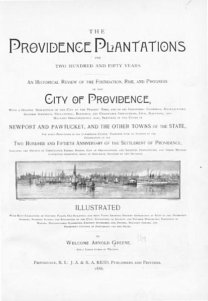 Download The Providence Plantations for Two Hundred and Fifty Years Book