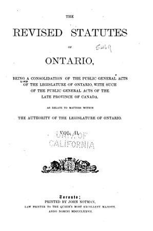 Lois Refondues de L Ontario de 1990 PDF