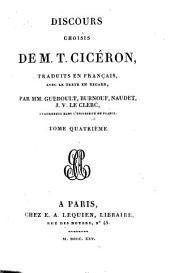 Discours Choisis De M. T. Cicéron: Volume4