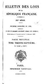 Bulletin des lois de la République française: Volume37