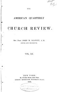 The American Quarterly Church Review and Ecclesiastical Register PDF