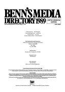 Benn's Media Directory