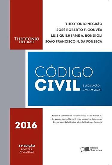 C  DIGO CIVIL E LEGISLA    O CIVIL EM VIGOR 2016 PDF