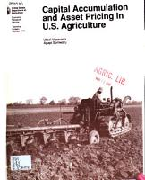 Capital Accumulation and Asset Pricing in U S  Agriculture PDF