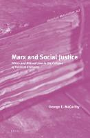 Marx and Social Justice PDF
