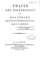 Traité des différences et des séries