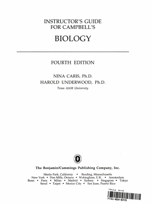 Instructor s Guide for Campbell s Biology