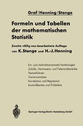 Formeln und Tabellen der mathematischen Statistik: Ausgabe 2