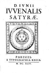 D. Ivnii Ivvenalis [& Avli Persii Flacci] Satyræ