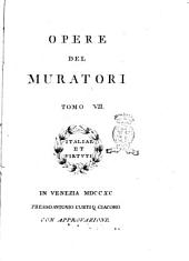 Opere del Muratori Tomo 1. [-48.]: Volume 7
