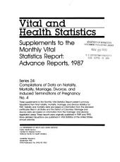Vital and health statistics: Compilations of data on natality, mortality, marriage, divorce, and induced terminations of pregnancy, Issue 4