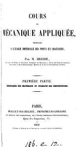 Cours de mécanique appliquée. 3 pt. [and] Atlas