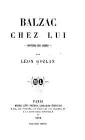 Balzac chez lui: souvenirs des Jardies