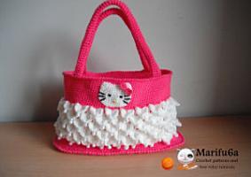 hello kitty bag crochet pattern by marifu6a PDF