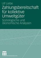 Zahlungsbereitschaft f  r kollektive Umweltg  ter PDF