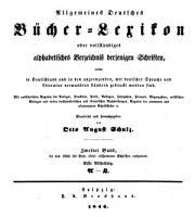 Allgemeines B  cher Lexikon  Bd  1835 41  Hrsg  von O  A  Schulz  1846 49  2 v PDF