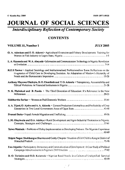Journal of Social Sciences PDF