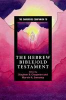 The Cambridge Companion to the Hebrew Bible Old Testament PDF