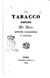 Il tabacco sestine del dottore Antonio Guadagnoli d'Arezzo