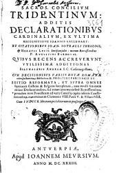 Sacros[anctum] concilium Tridentinum