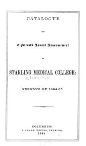 Annual Announcement and Directory of the Alumni