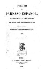 Tesoro del Parnaso español: poesias selectas castellanas : desde el tiempo de Juan de Mena hasta nuestros dias