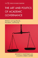 The Art and Politics of Academic Governance