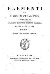 Elementi di fisica matematica: Volume 1