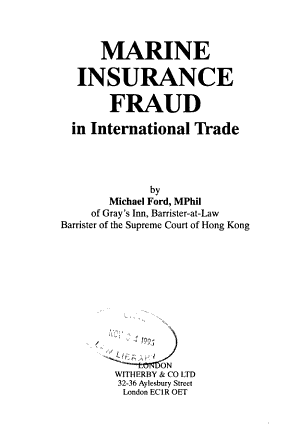 Marine Insurance Fraud in International Trade PDF