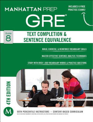GRE Text Completion   Sentence Equivalence