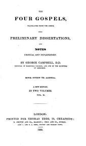 The Four Gospels: Volume 2