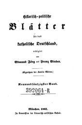 Historisch-politische Blätter für das katholische Deutschland ; herausgegeben von G. Phillips und G. Görres: Band 59