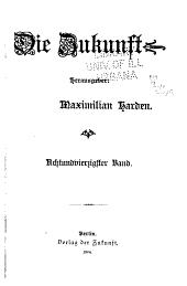 Die Zukunft. Herausgeber: M. Harden: Volume 48
