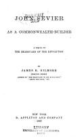 John Sevier as a Commonwealth builder PDF
