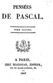 Pensées de Pascal: Volume2