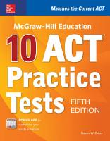 McGraw Hill Education  10 ACT Practice Tests  Fifth Edition PDF