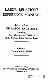 LABOR REALTIONS REFERENCE MANUAL PDF