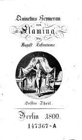 Quinctius Heymeran von Flaming. - Berlin 1800