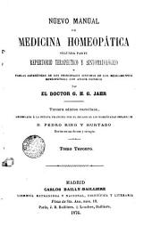 Nuevo manual de medicina homeopática