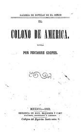 El colono de America: Novela