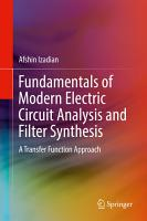 Fundamentals of Modern Electric Circuit Analysis and Filter Synthesis PDF