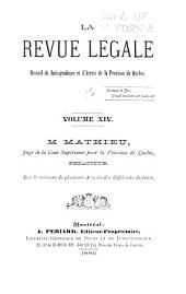 La Revue legale: Volume 14