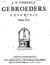 J. V. Vondels Gebroeders. Treurspel: Volume 1